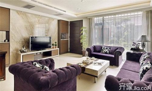 客厅电视背景墙贴砖如何 适合什么装修风格