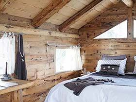 搭建临时小屋  10个木色卧室装修效果图