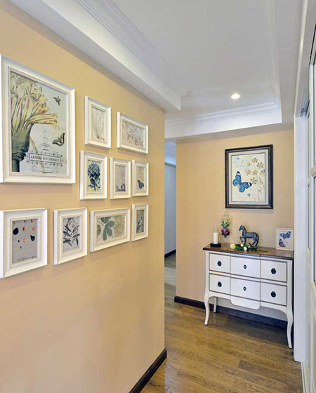浪漫美式玄关照片墙效果图