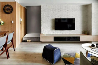 简约北欧风 文化砖电视背景墙设计