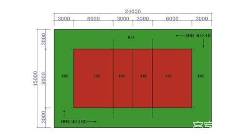 排球场地标准尺寸 排球场地施工方法