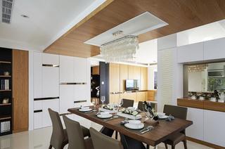 精致现代中式餐厅吊顶设计