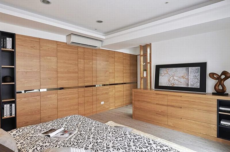 宜家风卧室实木衣柜效果图