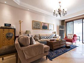 120平美式风格三室两厅装修 清风徐来