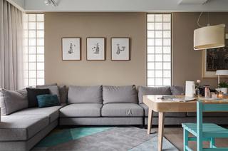 舒适日式客厅 沙发背景墙设计
