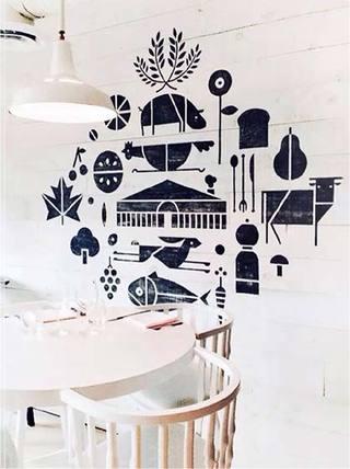 客餐厅背景墙设计实景图