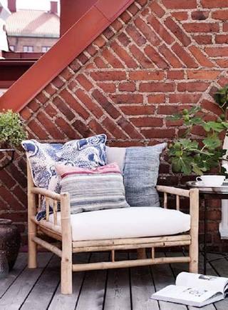 庭院竹椅子设计图片