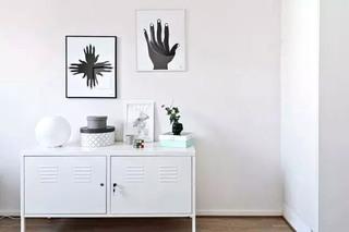 经典北欧风 玄关柜照片墙设计