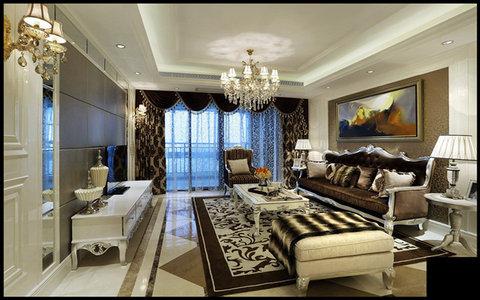 15-20万140㎡以上欧式大平层装修效果图,凯旋尊邸装修