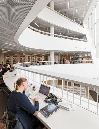 现代图书馆装修案例