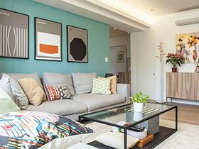 90平小户型北欧风格装修 用家具设计新婚宅