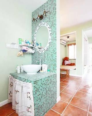 砖砌洗手台装修装饰效果图