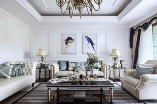 法式新古典 别墅客厅效果图