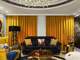 115平美式风格大两居装修 奔腾年代主旋律