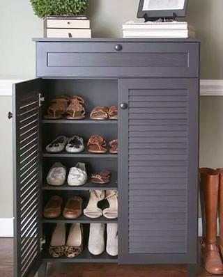 双开门玄关鞋柜设计