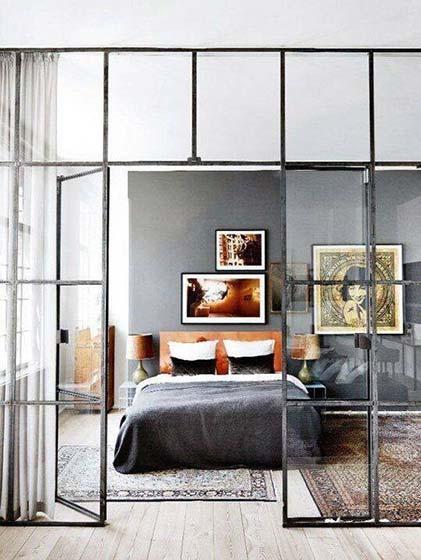 开放式厨房玻璃隔断设计_齐家网装修效果图