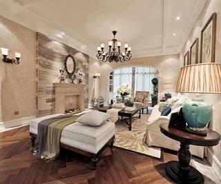 简约美式客厅装修装饰效果图