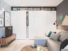60平米单身公寓设计布置图  北欧的宁静
