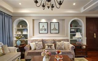 客厅地中海沙发背景墙设计