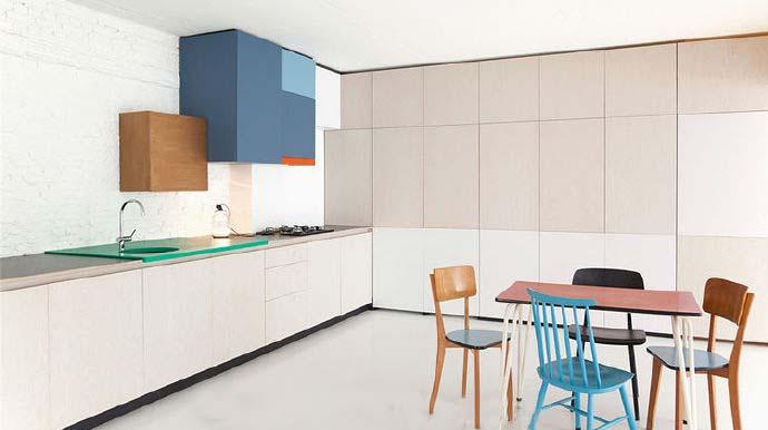 开放式厨房设计布置图片