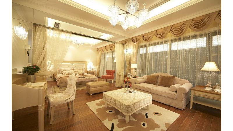 10-15万120平米欧式别墅装修效果图,时尚简欧风格装修图片