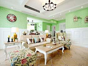 清新色彩打造美式田园公寓设计
