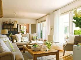 小清新北欧风客厅设计 绿植装点家居