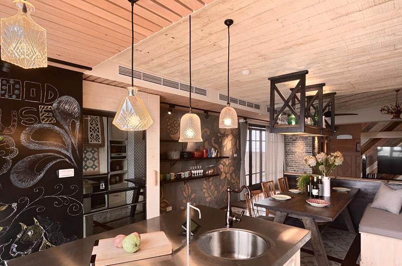 美式风格公寓厨房吊灯图片