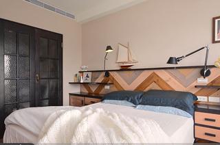美式风格公寓卧室装潢设计图