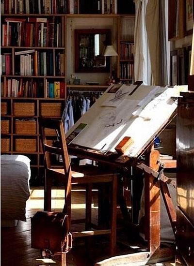 复古小书房装修装饰图片
