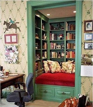 复古小书房设计装修图片
