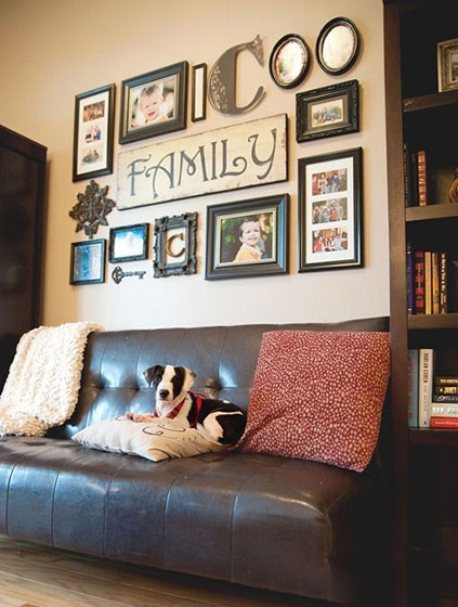 客厅照片墙装修效果图