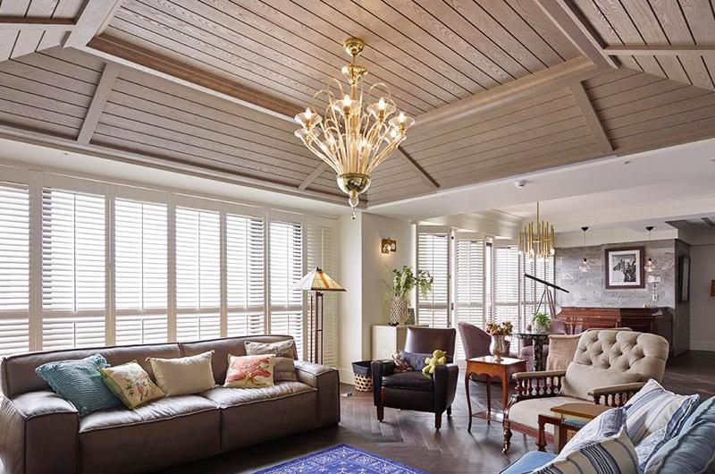 340平美式别墅客厅效果图