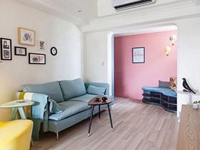 85平法式风格单身公寓装修 马卡龙的春天
