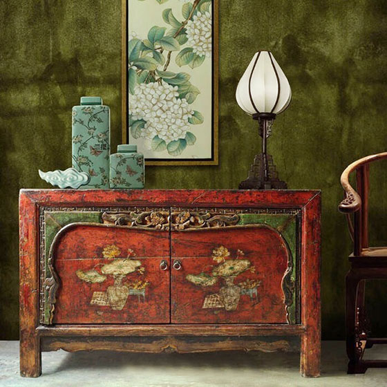 中式装饰柜装修装饰效果图