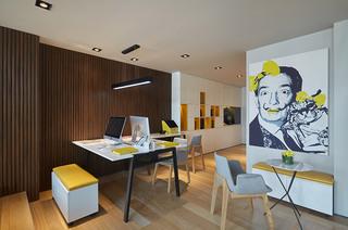 50平简约风格样板间餐厅效果图