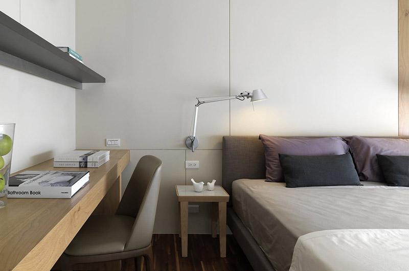 现代简日式卧室背景墙设计