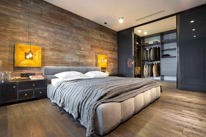 复古工业风 卧室带衣帽间设计