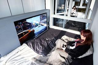 炫酷混搭风 单身公寓卧室效果图