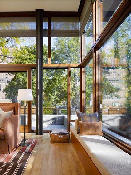 广角窗 铝木门窗 飘窗设计 创意门窗