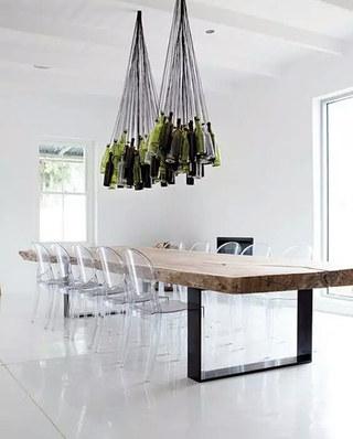 简约餐厅木质餐桌图片