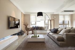 简约风格三居室装修客厅沙发图片