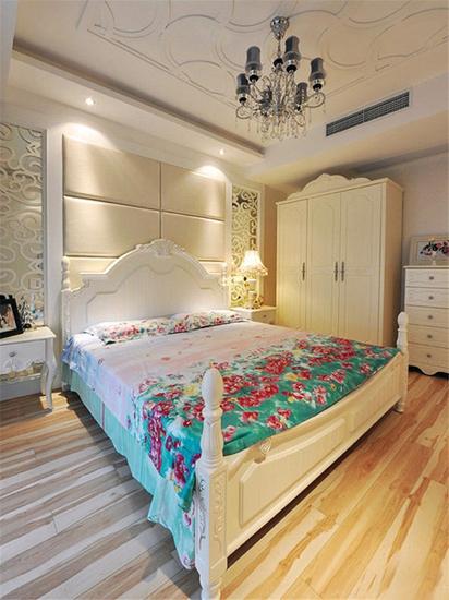 欧式风格别墅清新卧室平面图