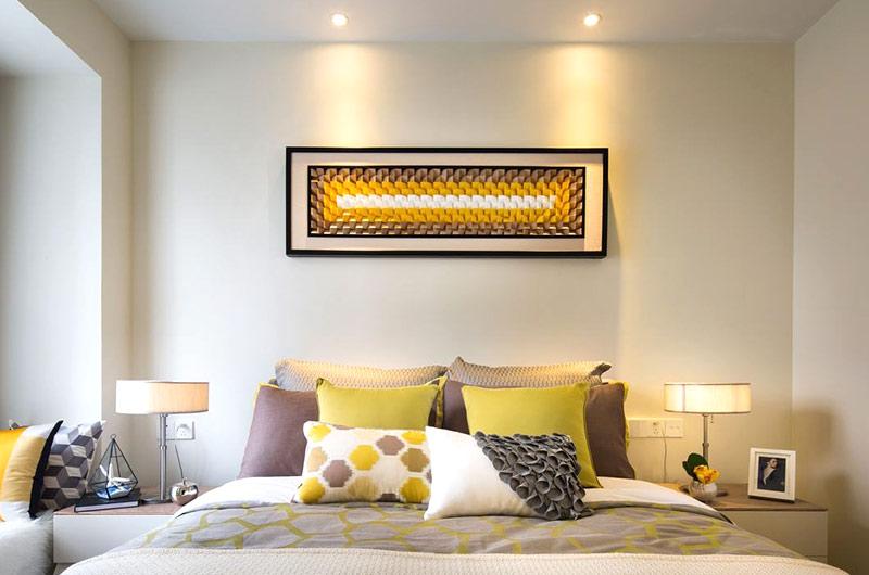 时尚后现代风 卧室装饰画效果图