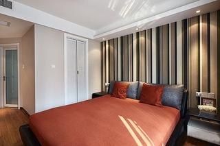简约风格小三房装修卧室壁纸设计