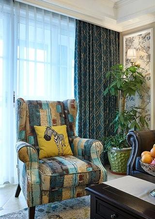 美式风格二居室装修布艺沙发效果图