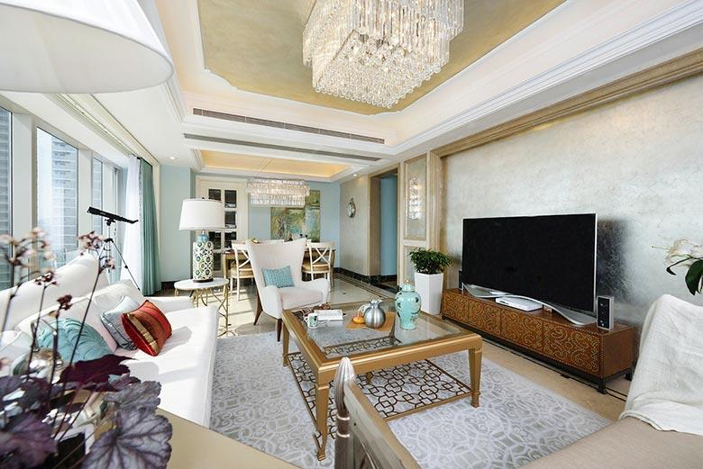 150㎡新古典两居室设计布置图