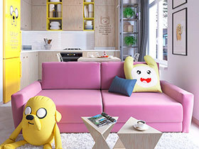 35平小户型公寓装修图 俏皮可爱的迷你公寓