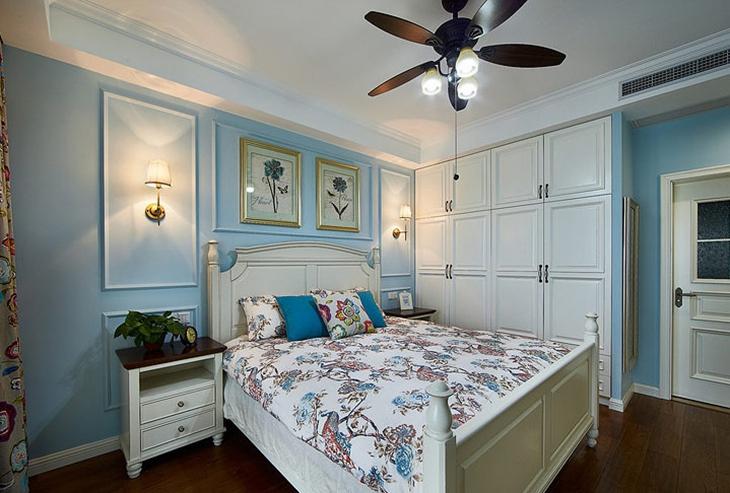 美式风格三房二厅装修卧室衣柜图片