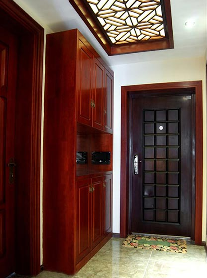 100㎡中式两居室玄关设计图
